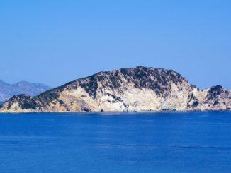 Marathonisi Schildkroeten Insel vor Zakynthos